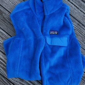 Patagonia Fuzzy Blue Vest Medium Womens